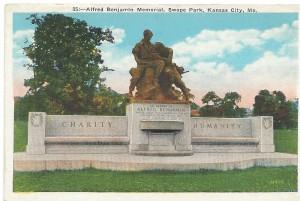 Postcard of Alfred Benjamin Memorial Swope Park