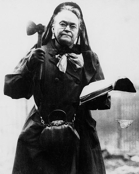 "Carrie Nation, who changed her name to Carry Nation (to ""carry"" a ""nation"" toward Prohibition.)"