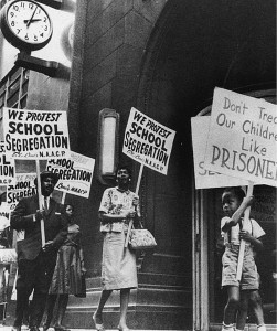 A protest against school segregation