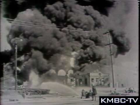 Phillips Petroleum explosion, Photo courtesy of KMBC
