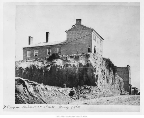 A large home atop a bluff -- stark contrast to the enclaves throughout the bluffs