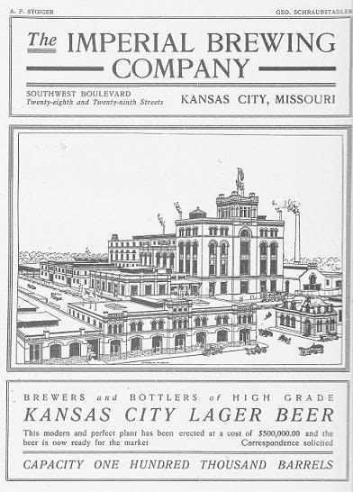 Imperial Brewing Co. advertisement