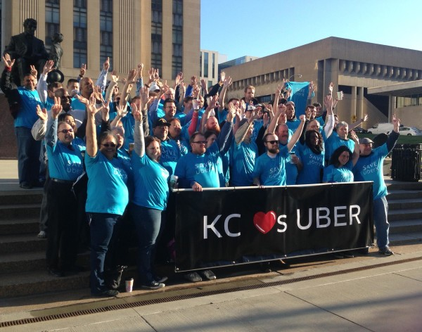 Kansas Citians rally to keep Uber ride-sharing alive in the city, KCUR