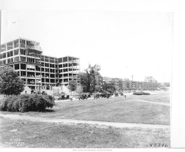 Apartment construction in 1925 courtesy of Missouri Valley Special Collections