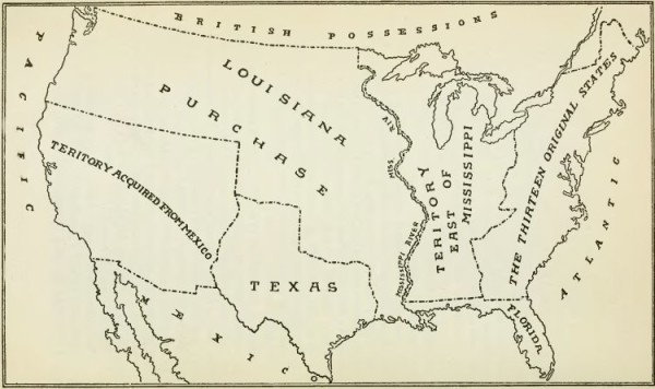Land acquired in the Louisiana Purchase