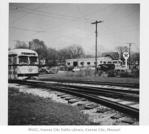 The Country Club Line Streetcar courtesy of Missouri Valley Special Collections