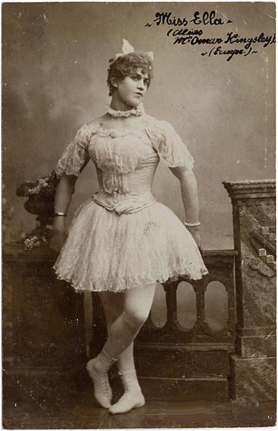 Late 1800s cross-dresser, courtesy of The Advocate Magazine