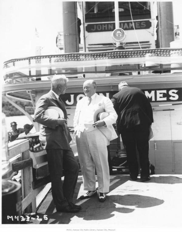 J.C. Nichols in white, 1932