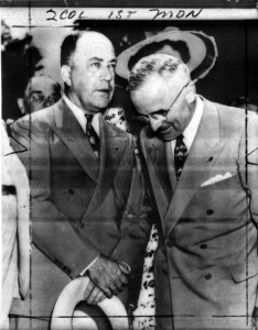 James Pendergast (left) with Harry S. Truman courtesy of the Truman Library