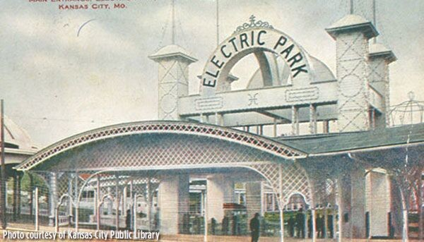 Electric Park entrance Courtesy of the Kansas City Public Library