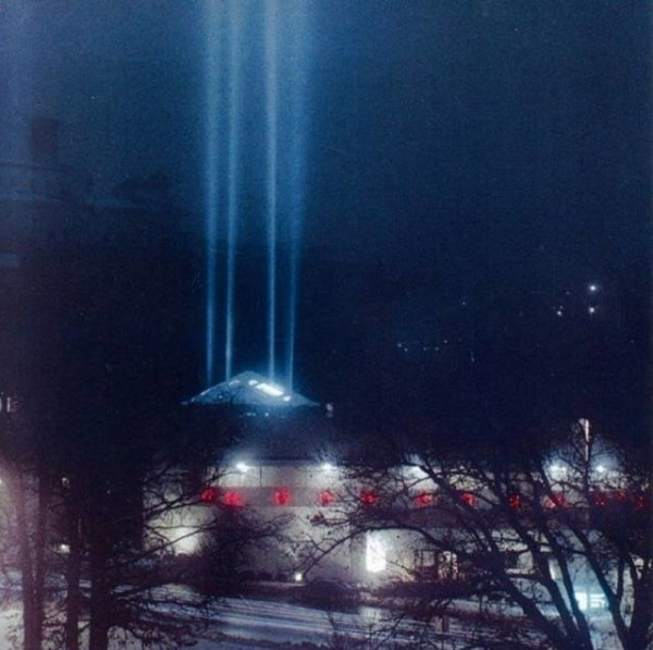 The Spire of Light Courtesy of the Community Christian Church Facebook page
