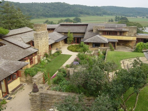 Wright's home in Wisconsin, Taliesin Courtesy of the Frank Lloyd Wright Foundation