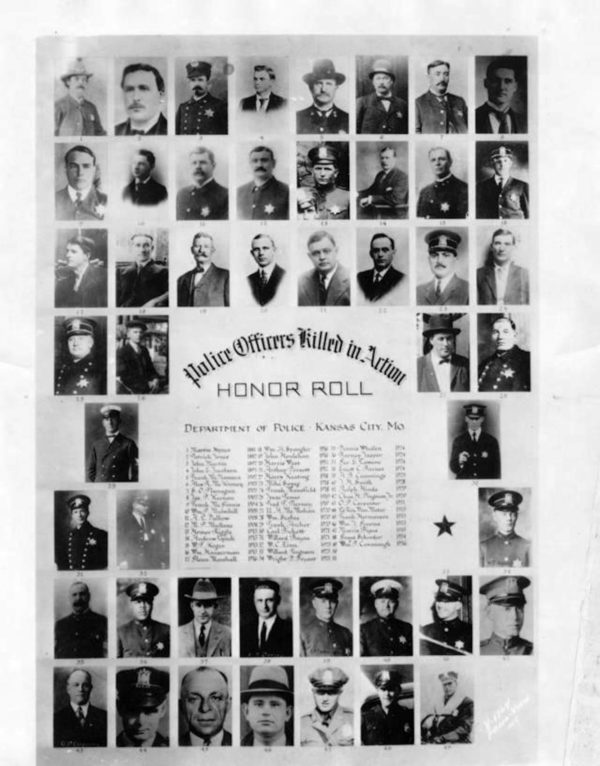 This composite photograph, assembled in 1936, salutes members of the Kansas City police force who had died in the line of duty. Read more here: http://www.kansascity.com/news/local/article59303278.html#storylink=cpy