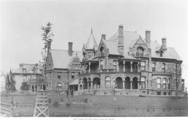Residences of L. V. Harkness, O. C. McWilliams, and Web Withers on the 3100 block of Troost. Missouri Valley Special Collections, Kansas City Public Library, Kansas City, Missouri.